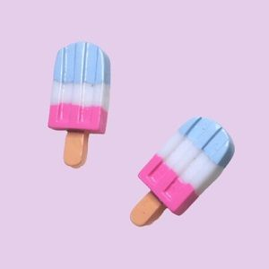 Handmade Earrings Ice Cream Popsicle Studs Kawaii